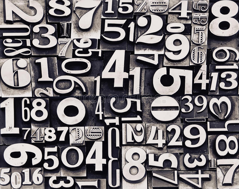 Old Metal Numbers Royalty Free Stock Photos