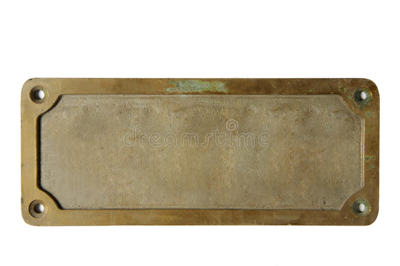 Old metal plate royalty free stock photo