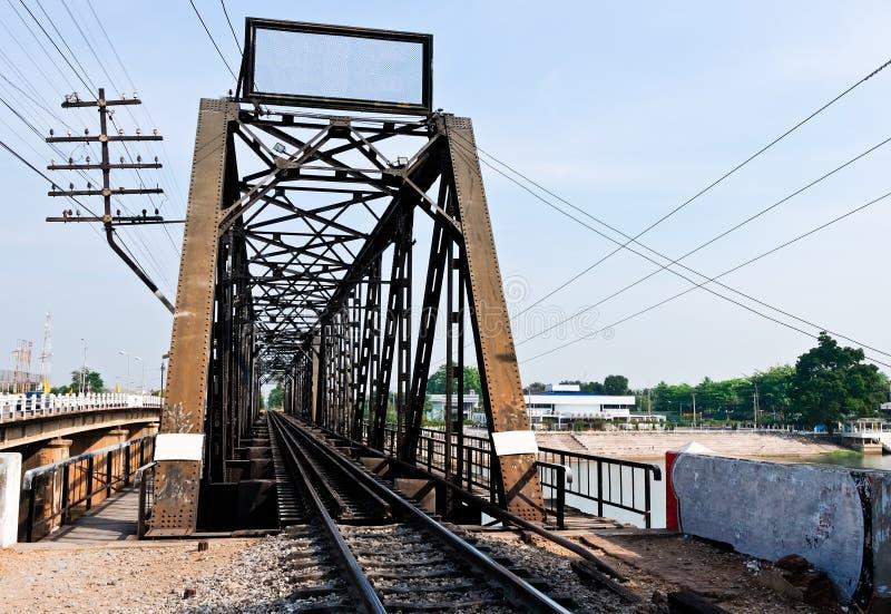 Download Old metal railway bridge stock photo. Image of outdoor - 20147644