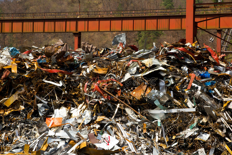 Old metal recycling royalty free stock photos