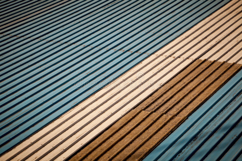 Download Old metal roof stock image. Image of tile, detail, blue - 26993351