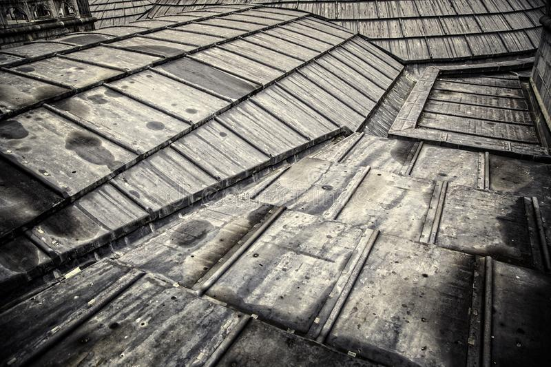 Old metal roof stock photography