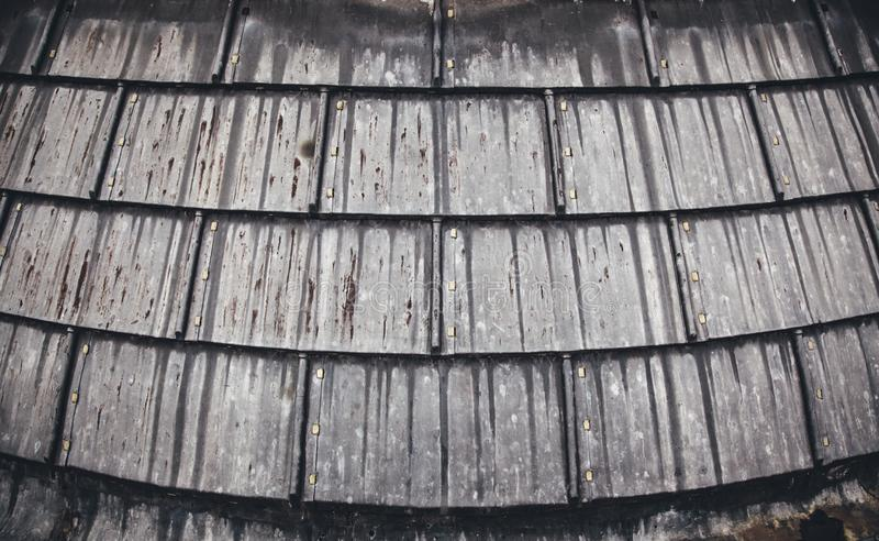 Old metal roof stock images