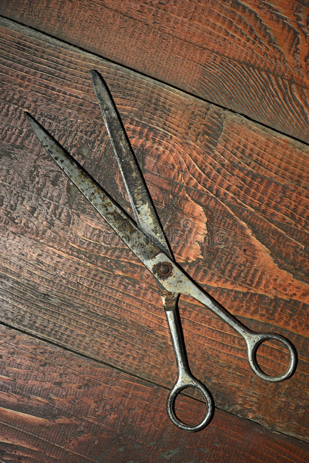 Old metal rusty scissors royalty free stock photo
