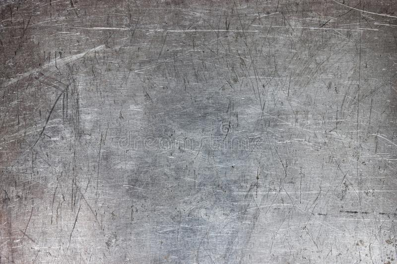 Old metal sheet background, brushed silver surface of iron stock images