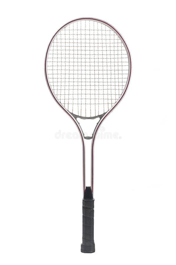 Old metal tennis racket stock photo