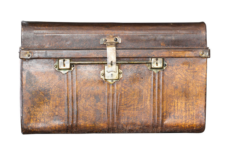 Old metal treasure chest royalty free stock image