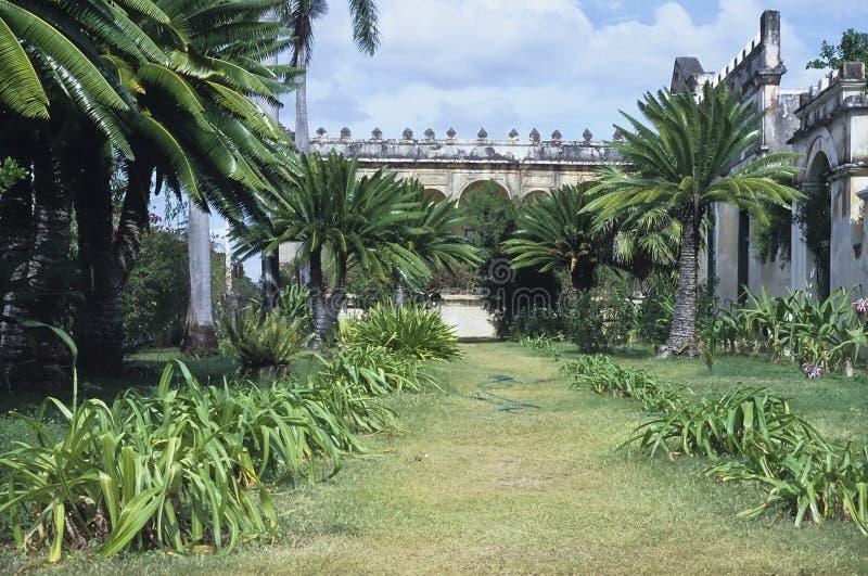 Old mexican hacienda stock image
