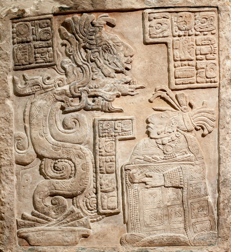 Free Old Mexican Relief Carved In Stone Royalty Free Stock Photo - 12701915
