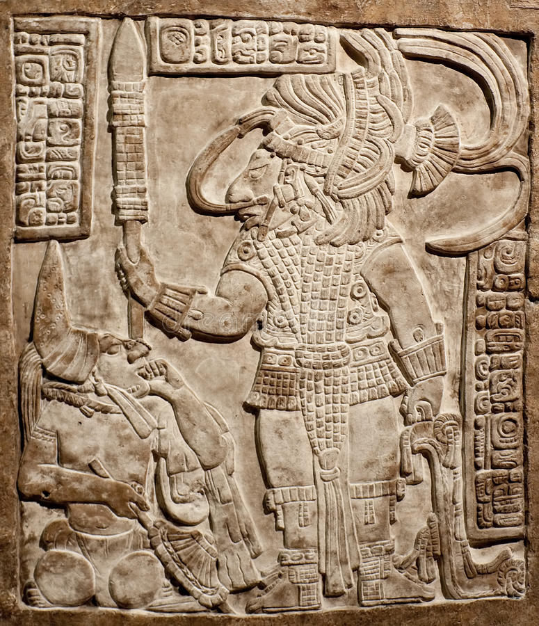 Free Old Mexican Relief Carved In Stone Royalty Free Stock Image - 12701946