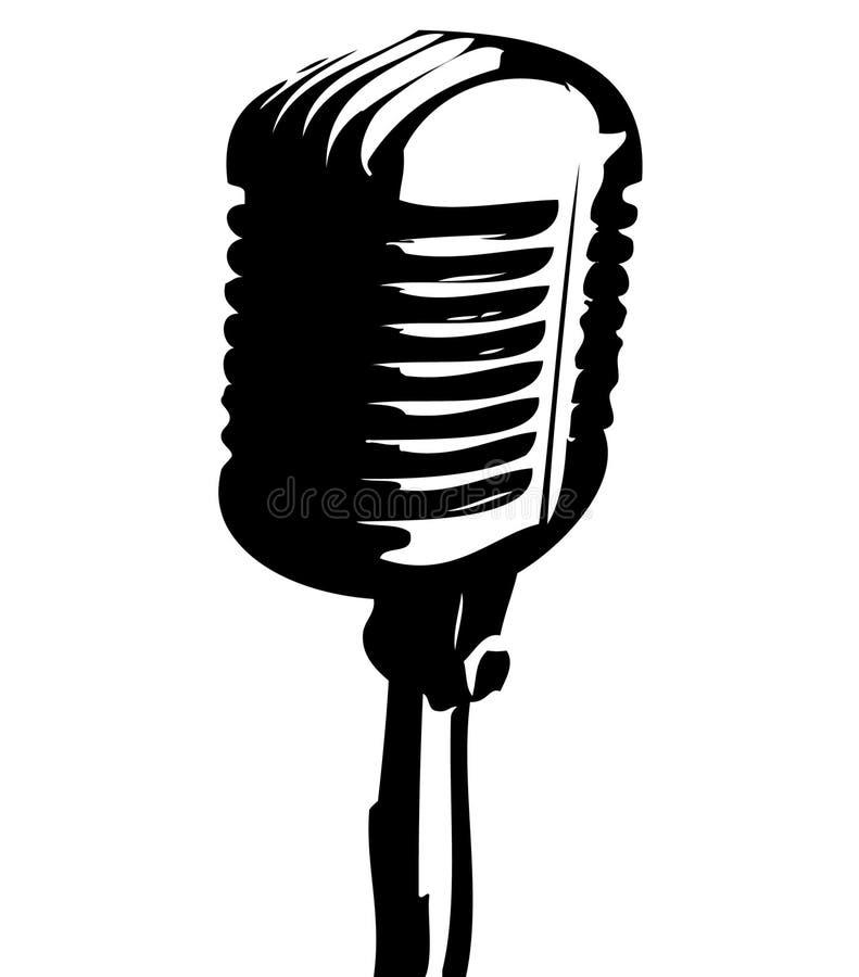 Old mic. royalty free illustration