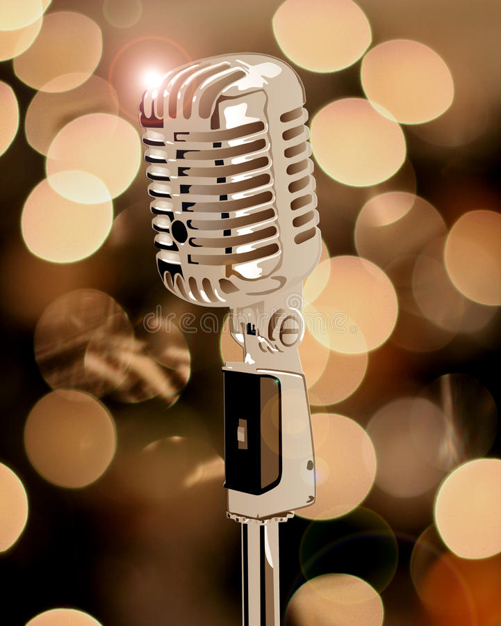 Old Microphone Royalty Free Stock Images