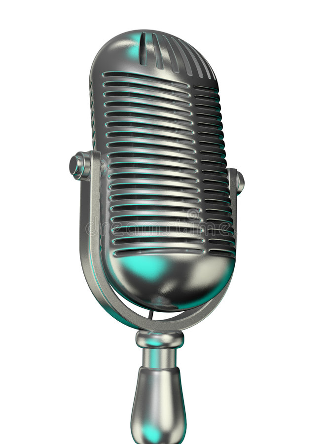 Old microphone stock photos