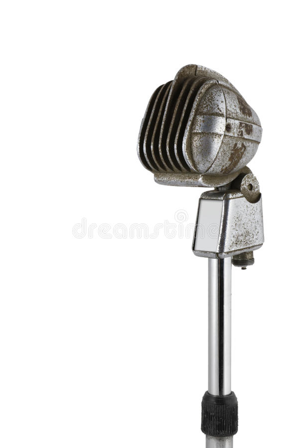 Download Old microphone stock image. Image of record, fashioned - 23883123