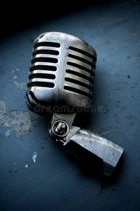 Old Microphone Royalty Free Stock Photography