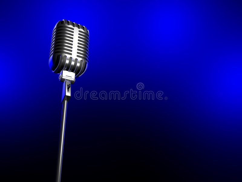 Download Old microphone stock illustration. Image of celebration - 4528630