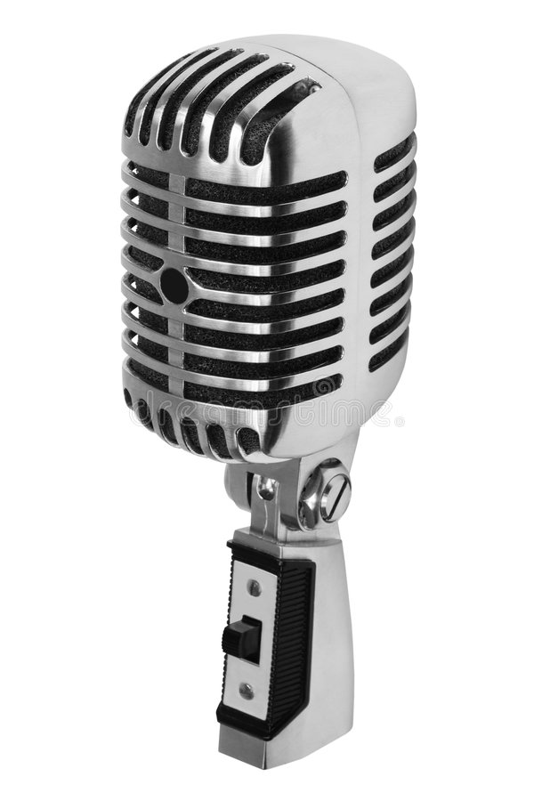 Download Old microphone stock photo. Image of conference, metallic - 5793700