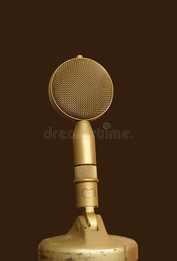 Download Old microphone stock photo. Image of record, technology - 6868560