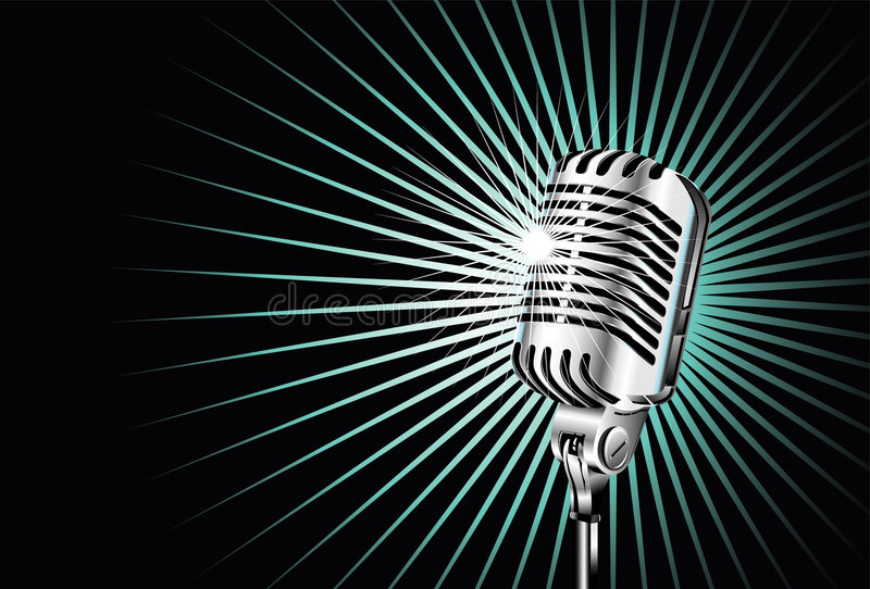 Download Old microphone stock vector. Image of illustration, decoration - 9164219