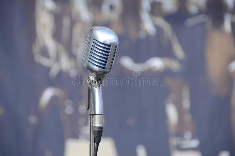 Download Old microphone stock image. Image of detail, view, stage - 31501837