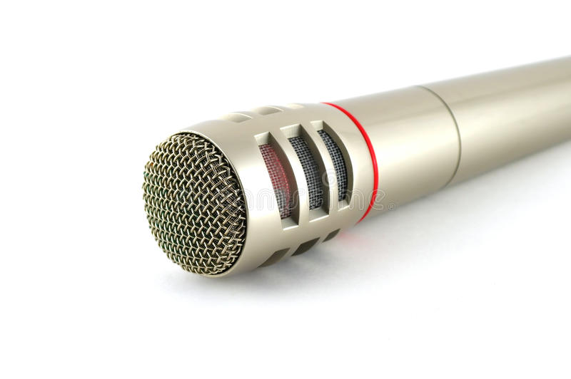 Download Old microphone over white stock image. Image of audio - 21602007
