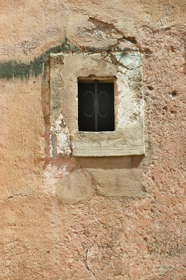 Old middle age window royalty free stock image