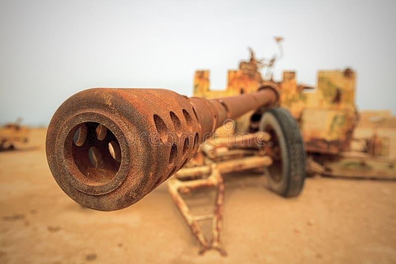 Old military anti-tank gun royalty free stock image
