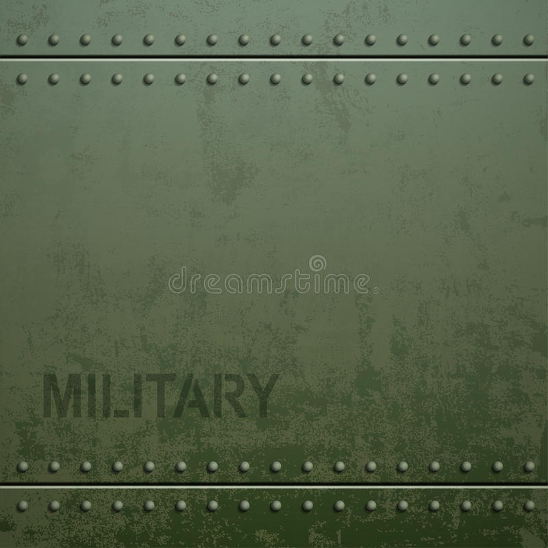 Old Military Armor Texture With Rivets Metal Background