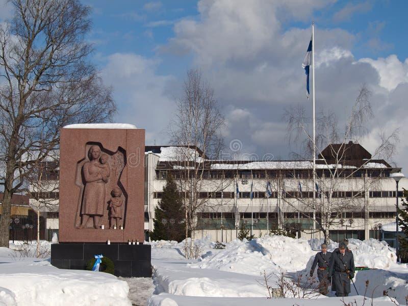Old military cemetery in Lappeenranta stock image