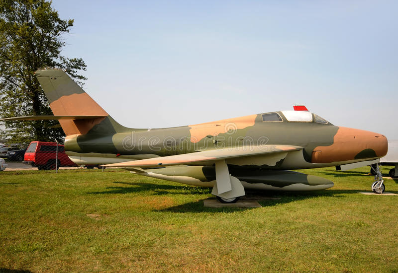 Download Old military jet stock image. Image of airforce, monument - 20805175