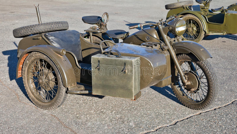 Download Old military motorcycle stock photo. Image of motor, vintage - 22042554