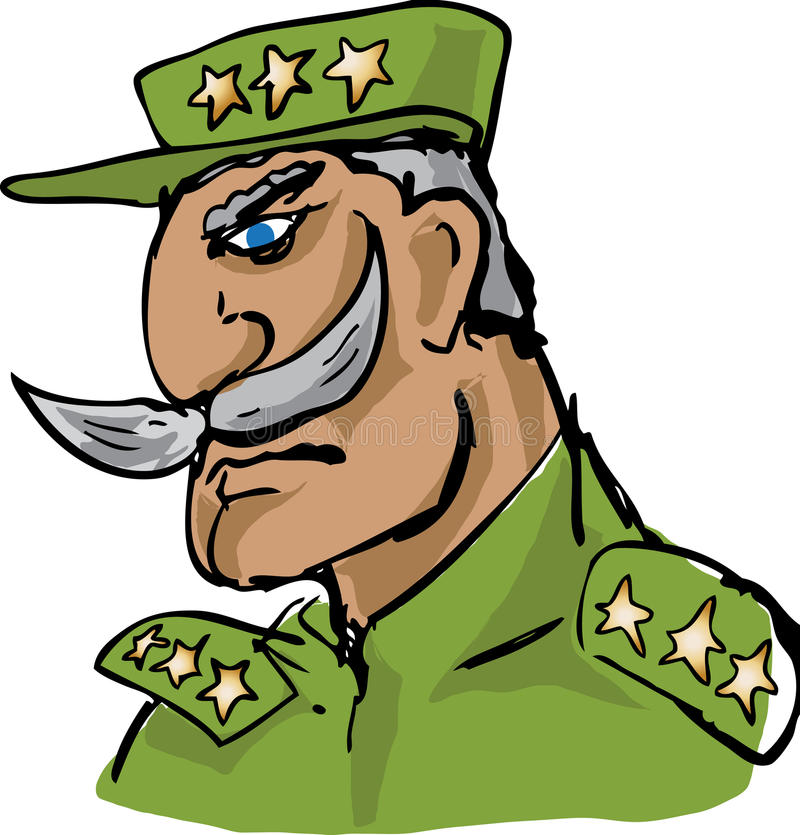 Old military officer hand-drawn