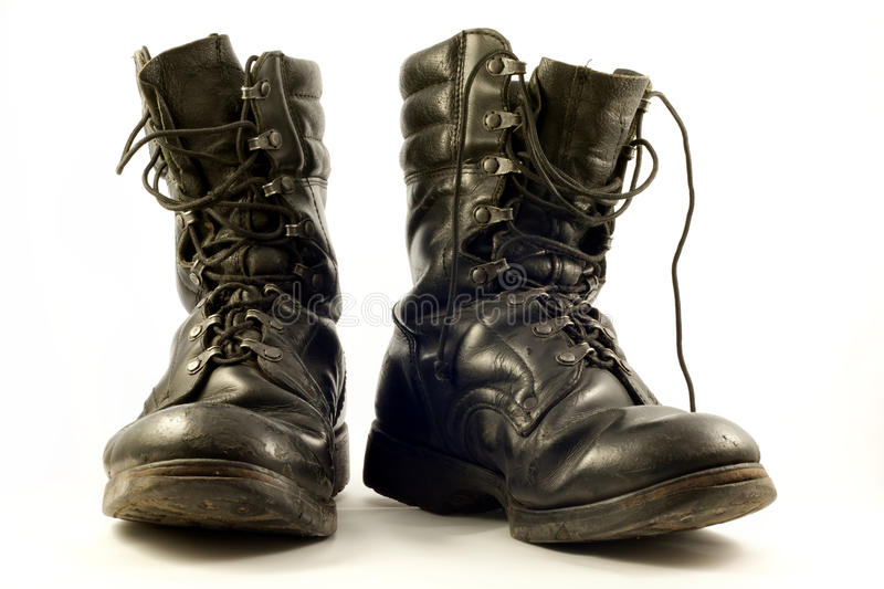 Old military shoes stock image. Image of heavy, leather ...