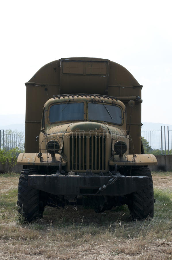 Old military truck stock images