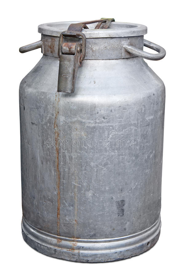 Old milk-can stock photo