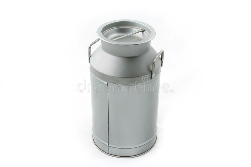 Old milk can stock photography