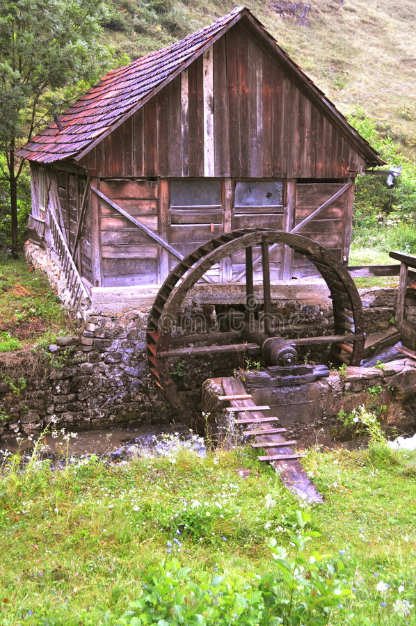 Download Old mill stock image. Image of watermill, cereals, functional - 7371991