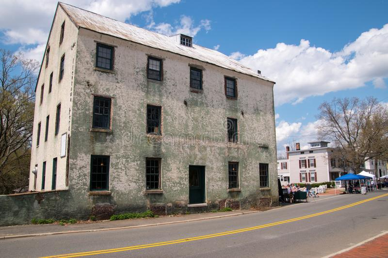 Old Mill Building in Allentown, New Jersey royalty free stock images