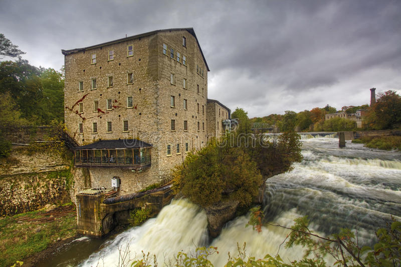The old mill in Elora, Canada by the gorge. The old mill in Elora by the gorge royalty free stock photo