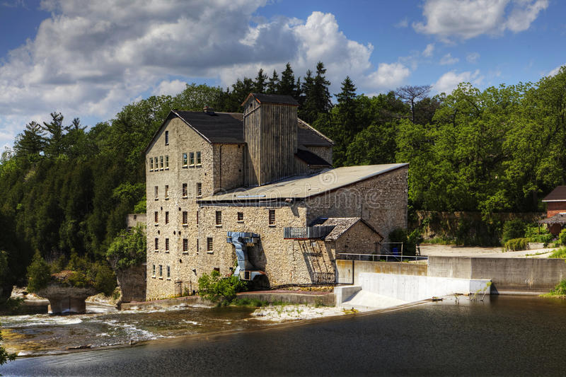 The old mill in Elora, Canada. The old mill in Elora, Ontario, Canada stock photography