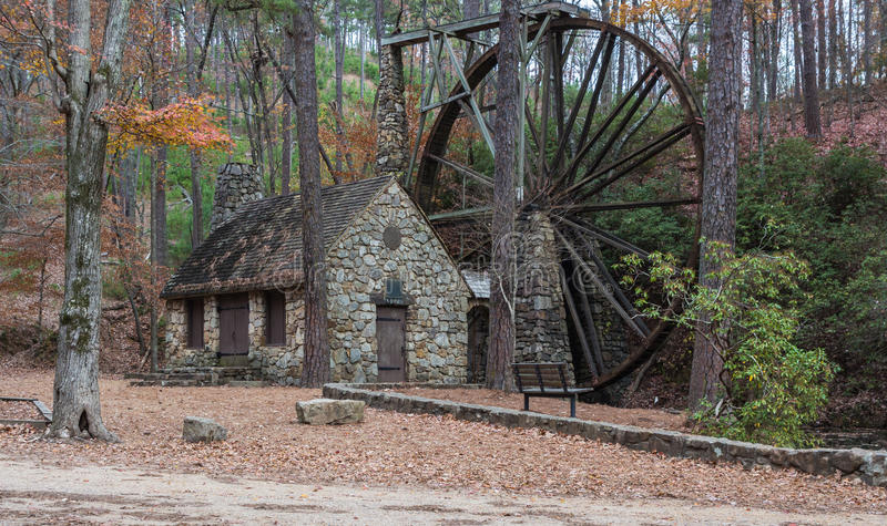 Old mill. Historic grist mill on the Berry College campus in Rome Georgia royalty free stock images