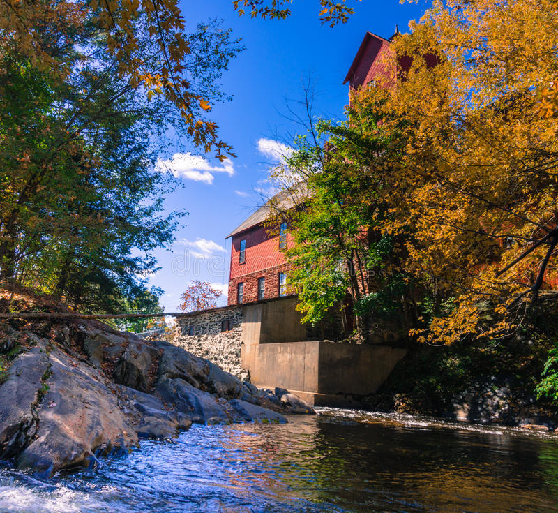 old mill with river royalty free stock photography