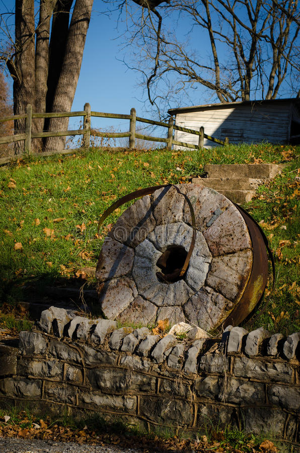 Old Mill Stone royalty free stock image