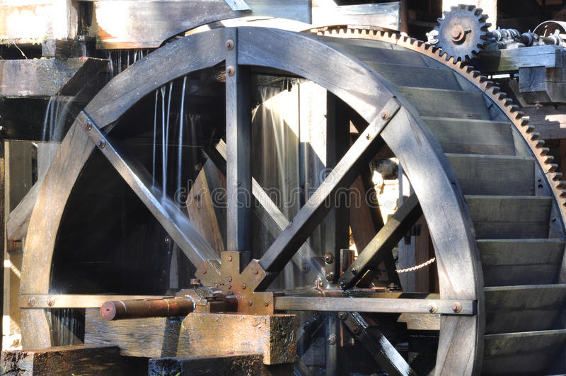 Old Mill Waterwheel royalty free stock photos