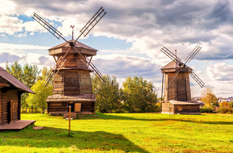 Old mills in Suzdal, Russia. Old mills in ancient town of Suzdal. Golden Ring of Russia stock photos
