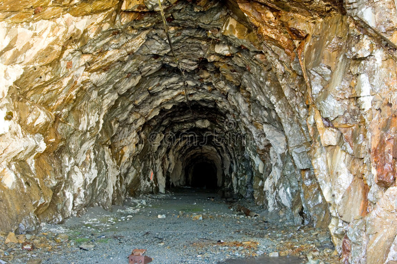 Old mine stock image
