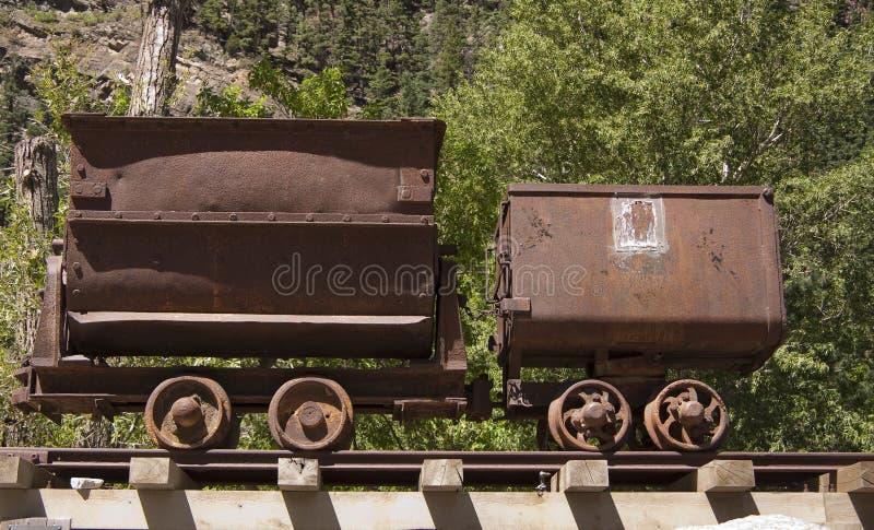 Old mine carts royalty free stock photo