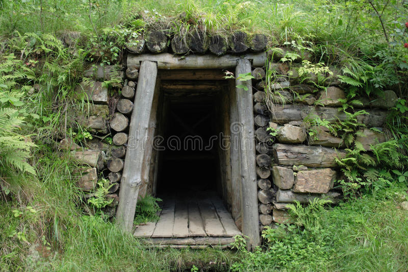 Old mine entry royalty free stock photography