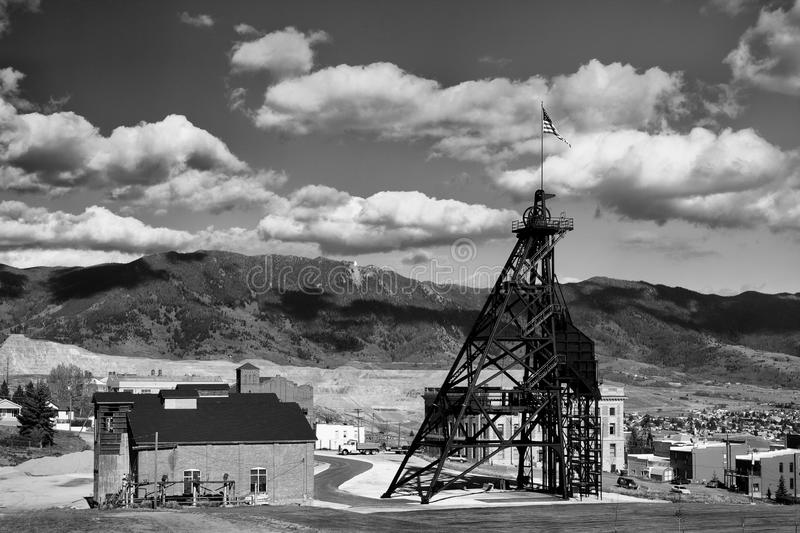 Old Mine Headframe royalty free stock photo
