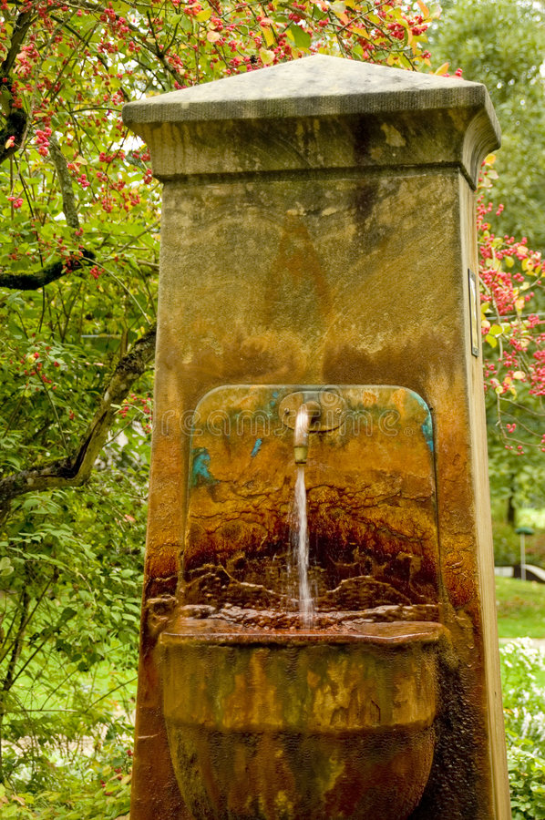 Download Old mineral fountain stock photo. Image of flowing, oxidize - 1412626